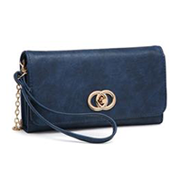 Blue Wallet Clutch
